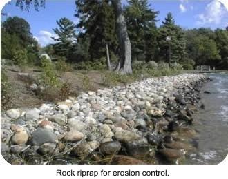 Photo Rock riprap for erosion control