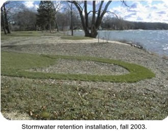 Photo Natural Shoreline Stormwater retention installation