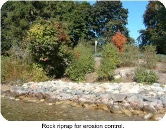 Photo 2 Rock riprap for erosion control